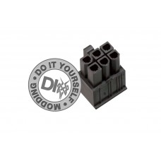 6 Pin connector male to PSU black