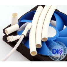 Fan Heatshrink tube 10 mm dia - white